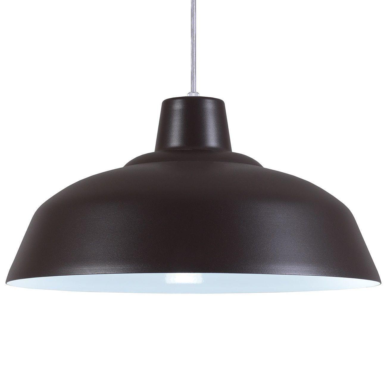 Pendente Retrô 34cm Luminária Lustre Alumínio Marrom Tabaco Textura - Rei Da Iluminação