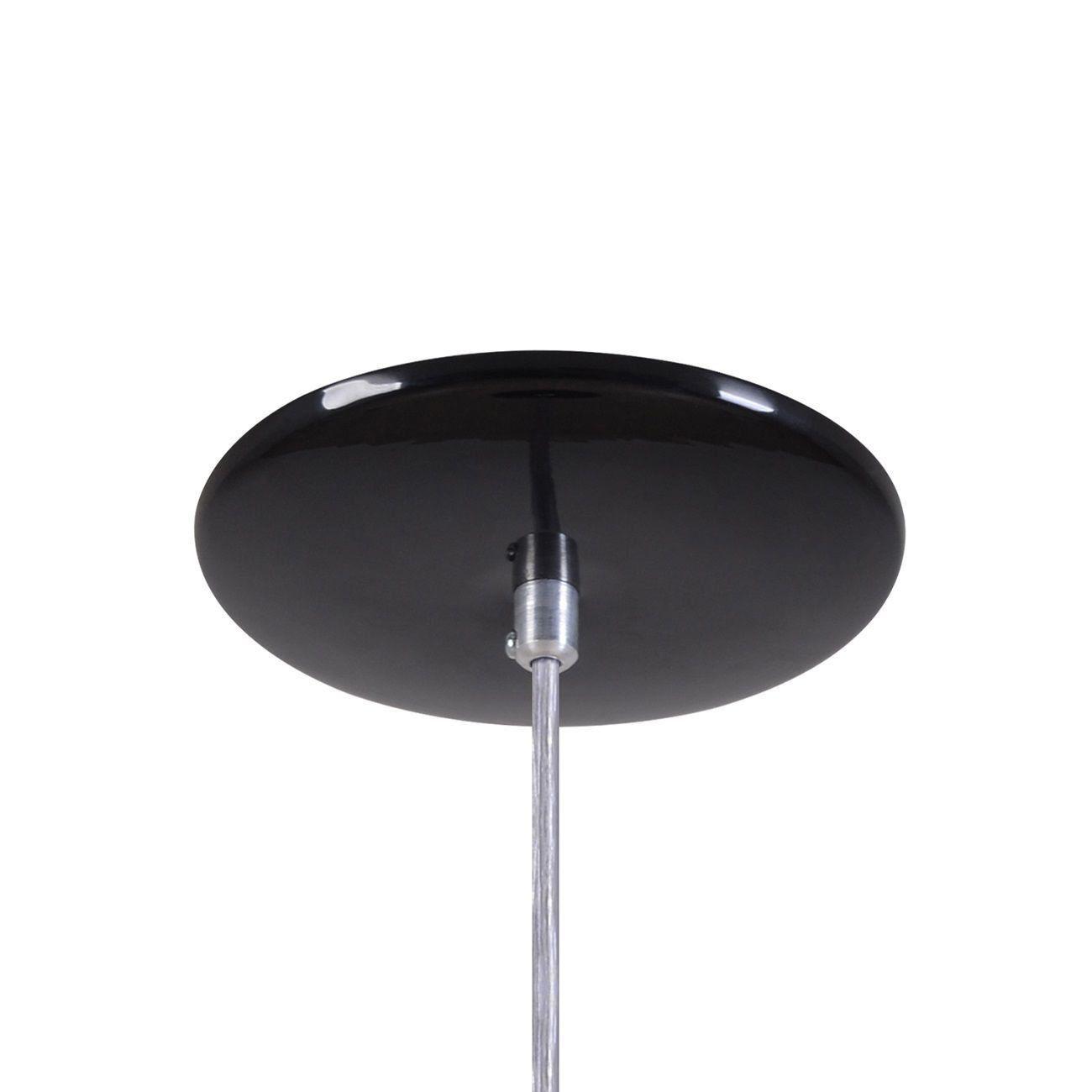Pendente Retrô 34cm Luminária Lustre Alumínio Preto Brilhante - Rei Da Iluminação
