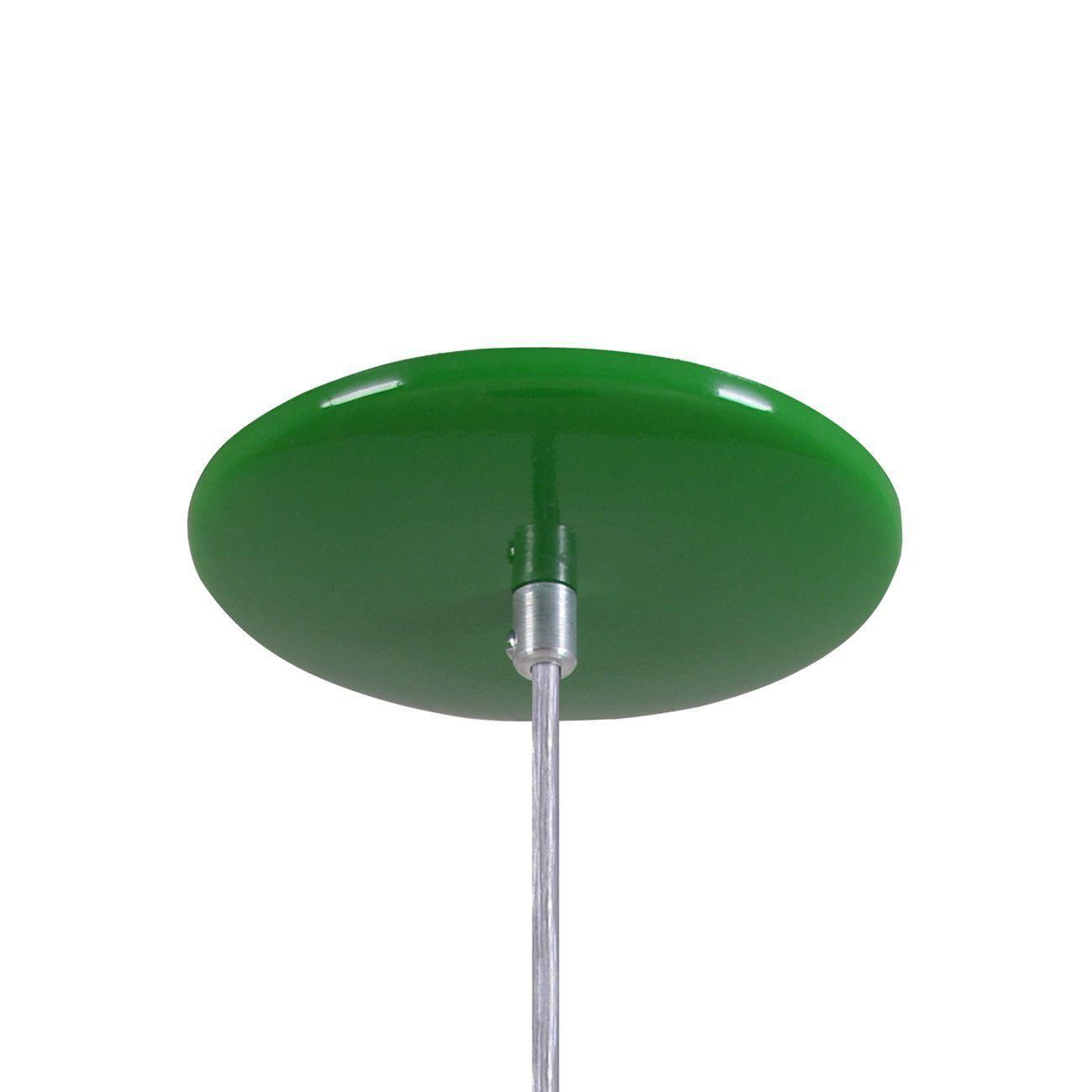 Pendente Retrô 34cm Luminária Lustre Alumínio Verde - Rei Da Iluminação