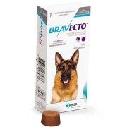 ANTIPULGAS E CARRAPATOS DE (20 A 40 kg) MSD BRAVECTO PARA CÃES -1000 mg + Necessaire
