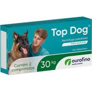 VERMÍFUGO TOP DOG 30kg - 2 comprimidos