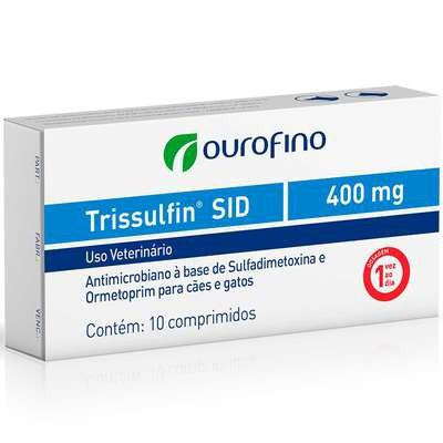 ANTIMICROBIANO TRISSULFIN SID 1600MG BLÍSTERS COM 5 COMPRIMIDOS