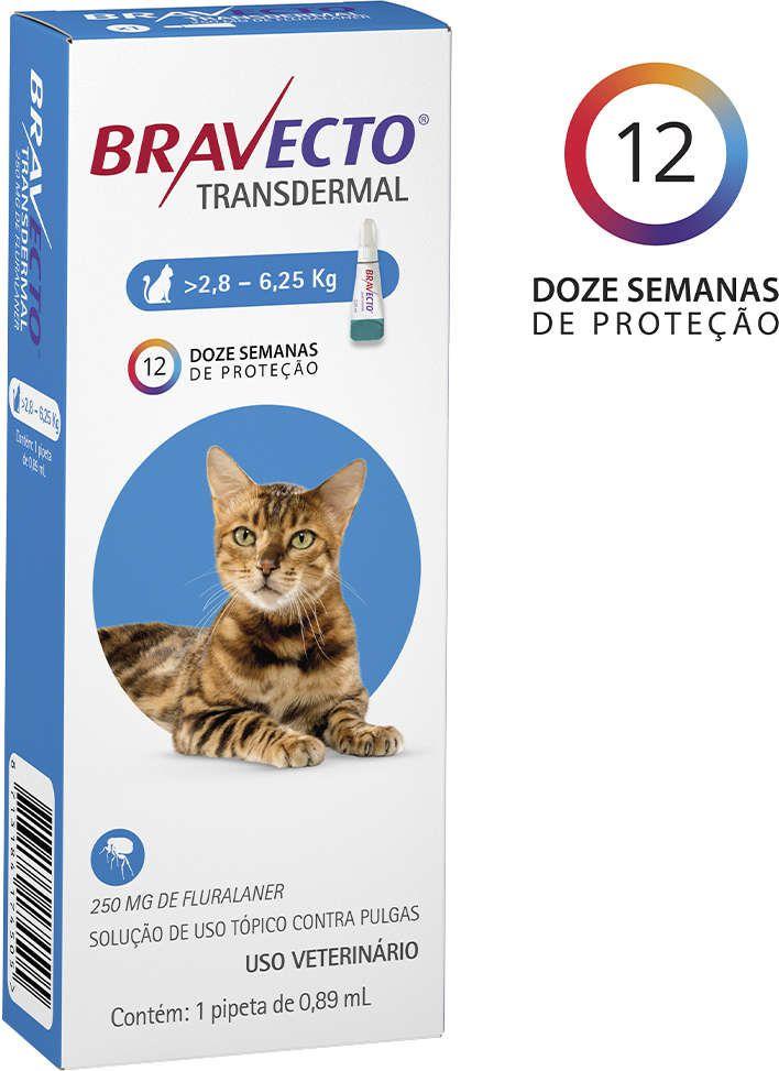 ANTIPULGAS BRAVECTO TRANSDERMAL PARA GATOS DE 2,8-6,25KG