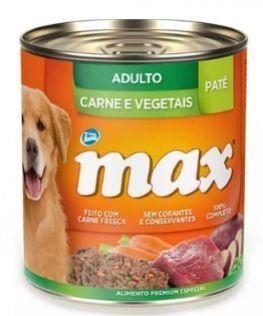 PATÊ MAX CÃES ADULTOS SABOR CARNE E VEGETAIS - 280g