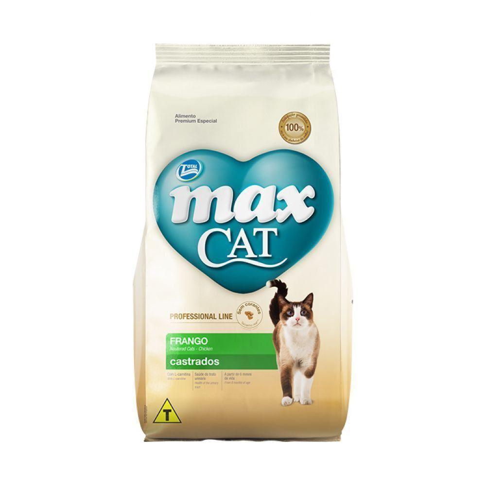 RAÇÃO MAX CAT ADULTOS PROFESSIONAL LINE CASTRADOS FRANGO - 10,1KG