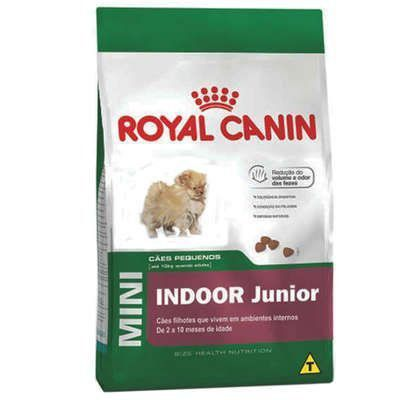 RAÇÃO ROYAL CANIN MINI INDOOR JUNIOR - 7,5 KG