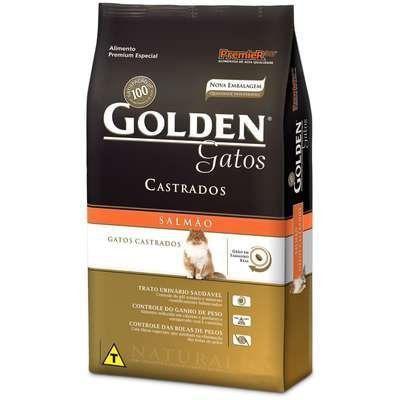 RAÇÃO GOLDEN GATOS ADULTOS CASTRADOS SALMÃO - 1 KG