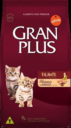 RAÇÃO GRAN PLUS FRANGO E ARROZ PARA GATO FILHOTE