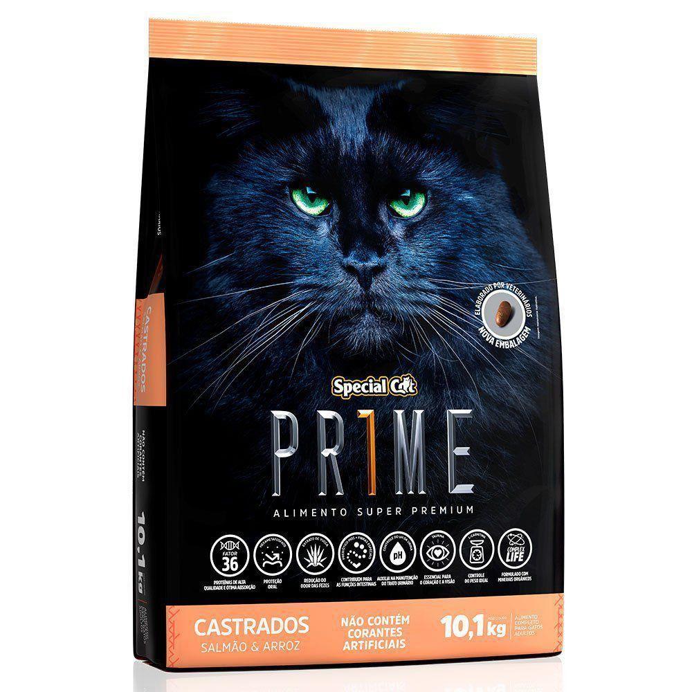 RAÇÃO SPECIAL CAT PRIME SALMÃO E ARROZ PARA GATOS ADULTOS CASTRADOS