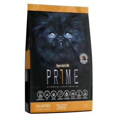 RAÇÃO SPECIAL CAT PRIME SALMÃO E ARROZ PARA GATOS FILHOTES 1kg