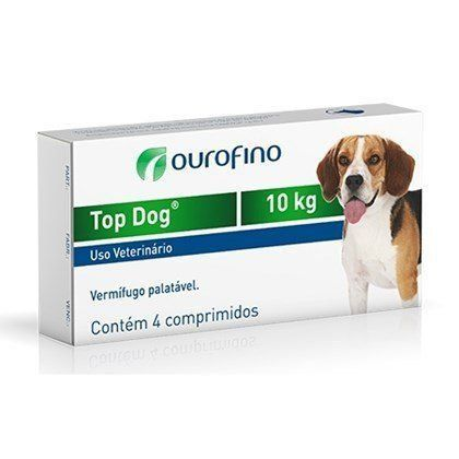 VERMÍFUGO TOP DOG 10kg - 4 comprimidos