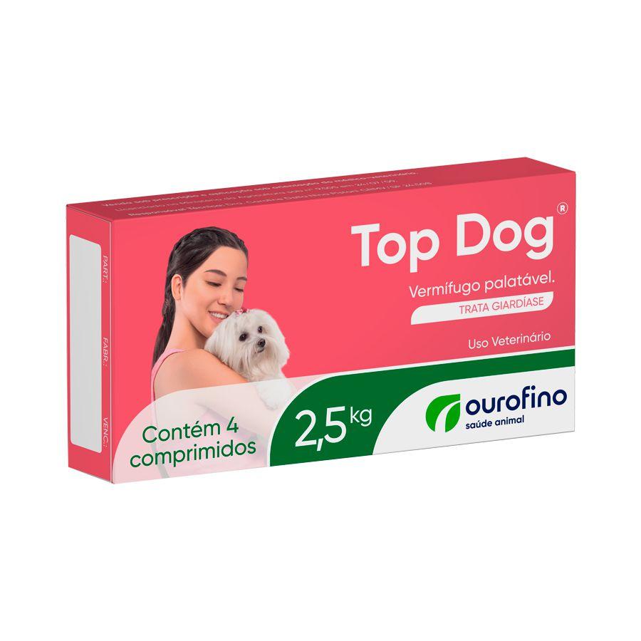 VERMÍFUGO TOP DOG 2,5kg - 4 comprimidos
