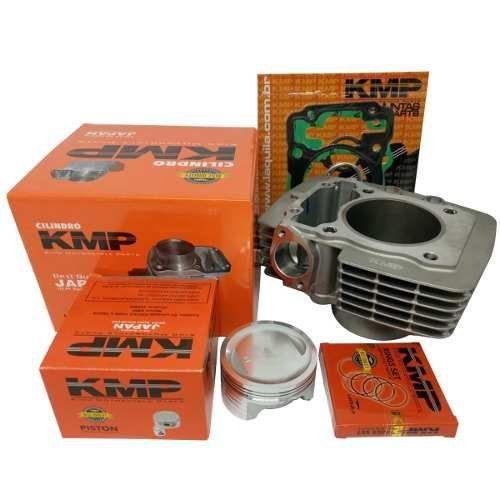 Kit Completo Pistão Cilindro E Juntas Kmp Cg 150 Titan Fan Bros P/ 220cc