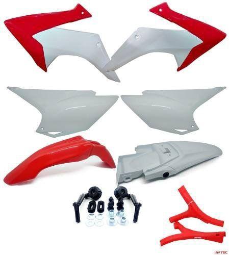Kit Plástico Carenagem Crf 230 08... Mod 2015 + Protetor Quadro Avtec