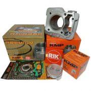 Kit Completo Pistão Cilindro Kmp Premium Anéis Rik Cg 150  P/ 190cc
