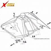 Kit Fixação Do Tanque Crf 230 Adaptável X cell