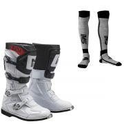 Bota Gaerne Gx1 Goodyear Branca Preto Com Meião Motocross Enduro Trilha Tamanho:EUR 43 - USA 9 - BR 41