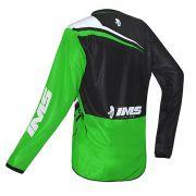 Camisa Ims Flex Verde Preto Motocross Trilha