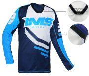 Camisa Ims Sprint Azul P/ Motocross Trilha Biker Ciclismo
