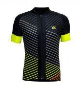 Camisa Mattos Lines Masculino Ciclismo Amarelo Flúor