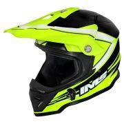 Capacete Ims Light Amarelo Flúor Preto Motocross Trilha Enduro