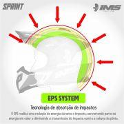 Capacete Ims Sprint Neon Preto Com Óculos Preto