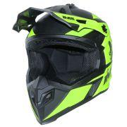 Capacete Ims Sprint Neon Preto Motocross Trilha