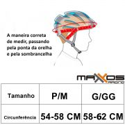 Capacete Mattos Mx Ciclismo Bike Vermelho