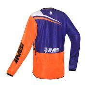 Conjunto Ims Calça Sprint e Camisa Flex Azul Laranja Motocross Trilha