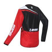 Conjunto Ims Calça Sprint e Camisa Flex Vermelho Preto Flúor Motocross Trilha