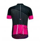 Conjunto Mattos Bermuda Camisa Feminina Rosa Preto Ciclismo