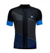 Conjunto Mattos Lines Calça Camisa Azul Ciclismo