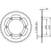 Coroa Aço 1045 Biker Crf 230 Crf 250f Crf 250r 450r 250x 450x Xr 400 Vermelha