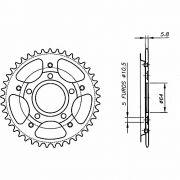 Coroa Aço 1045 Biker Honda Xr 200 Nx 200 48 49 50 Dentes