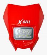 Farol Crf 230 Completo X-cell Com Leds e Suporte