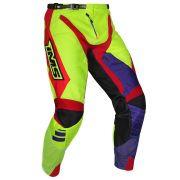 Kit Conjunto  Ims Sprint Flúor Azul Vermelho Calça e Camisa Motocross Trilha Enduro