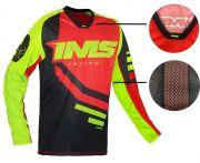 Kit Conjunto Ims Sprint Vermelho Preto Flúor Calça e Camisa Motocross Trilha