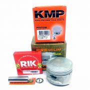 Kit Pistão Kmp Premium Anéis Rik Cbx 150 Aero Nx 150 Std Á 1.00mm