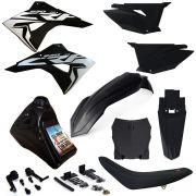 Kit Plástico Biker Crf 230 Adaptável Xre 300 Nxr Bros 150 Injetada
