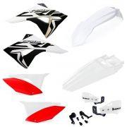 Kit Plástico Biker Elite Crf 230f Com Adesivos E Protetor Mão