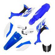 Kit Plástico Biker Evo Crf 250f Com Adesivos + Protetor De Mão Biker