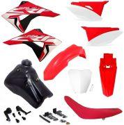 Kit Plástico Biker Next Adaptável Crf 230 Xr 200 Xr 250 Tanque 9L
