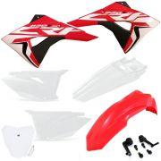 Kit Plástico Crf 230 Biker Next Com Number Plate e Adesivos