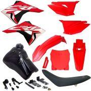Kit Plástico Carenagem Crf 230 07 08 09... Tanque 7 Litros Number Plate