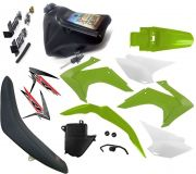 Kit Plástico Carenagem Crf 230 07 Á 19 Pro Tork Tanque Banco Torneira