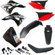 Kit Plástico Completo Biker Crf 230 Adaptável Xre 300 Nxr Bros 150 Injetada