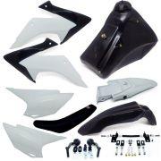 Kit Plástico Completo Crf 230 Adaptável Xre 300 Nxr Bros 150 Injetada