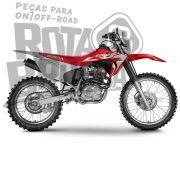 Kit Plástico Crf 230 Number Plate Avtec Com Aleta Biker F-19