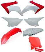 Kit Plástico Crf 230 Avtec Com Number Plate E Para Lama Biker F-19