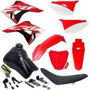 Kit Plástico Elite Crf 230 Carenagem Tanque Torneira Number Next